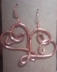 Copper Heart Earrings, Valentines Day is right around the corner!
