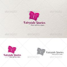Fairytale Stories Logo  — EPS Template #book #butterfly