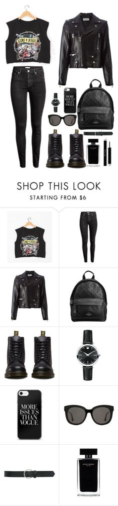 """""""#835"""" by infinito01 ❤ liked on Polyvore featuring H&M, Yves Saint Laurent, Coach, Dr. Martens, Movado, Gentle Monster, M&Co and Narciso Rodriguez"""