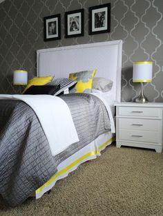 Grey ~ Yellow ~ White