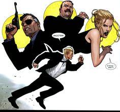 Steve Rogers, Nick Fury, Dugan and Sharon Carter