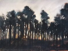 Last Glow, Pastel drawing by Nina Shilling | Artfinder