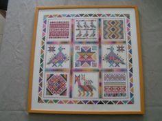 """merklap uit Midden-Amerika  ontworpen door N. Hendriks uitgeg. door """"Naald en Draad"""""""
