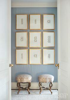 Artwork idea Suzanne Kasler cameos mounted in frames