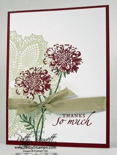 simple but elegant! (use my doily die instead of the stamp!)
