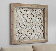 Hempstead Carved Wood Panel