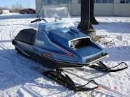 Snowmobile river vintage wi eagle