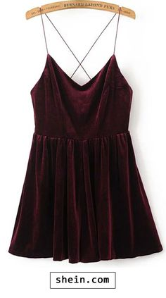 Spaghetti Strap Cross Back Velvet Romper. More colors for you!