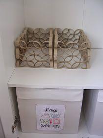 Boucle d'Aure: DIY : Panier en rouleaux de papier WC