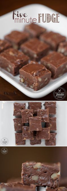 It doesn't get much faster, easier, or sinfully delicious than this Five Minute Fudge. Self Proclaimed Foodie