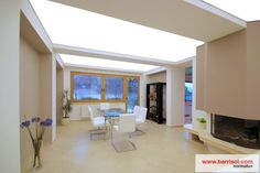 Living room ceeling with Barrisol streched foil light. You can find here: https://www.feszitett-folia.com