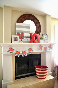 Valentine's Day decor. Love the canvas
