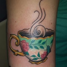teacup tattoo on pinterest tattoos and body art cup tattoo and teapot tattoo. Black Bedroom Furniture Sets. Home Design Ideas