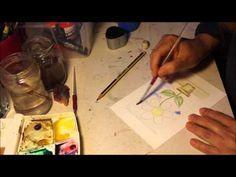 Pintando una acuarela sencilla, nº1 ...Video de Pablo Roiz...(15 años)