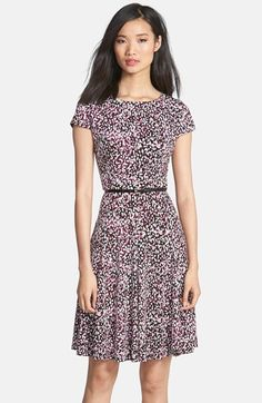Eliza J Print Belted Jersey Dress (Petite) available at #Nordstrom