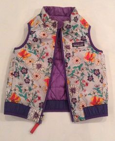 Patagonia Reversible Floral Puffer Vest Girls Sz 2T / | Clothing, Shoes & Accessories, Baby & Toddler Clothing, Girls' Clothing (Newborn-5T) | eBay!