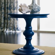 Mix Klein Blue & Coastal Blue Milk Paint to get this beautiful navy blue color.  Top with Satin HPTC for a little shine.  (Warren End Table - Ethan Allen US)