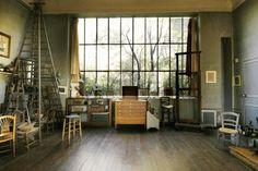 Art Studio Lighting Design (how to avoid being kept in the dark). In the photo: Cezanne`s artist studio