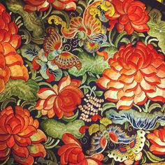 pinning this to floors because I am going to paint a rug lol: beautiful example of Chinese Silk embroidery.