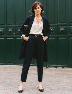 It's the epitome of personal style, of the art of dressing like a real woman, one with a job, and a life, and things to do beyond go to an event to get her picture taken. Photographed by Mehdi Lacoste