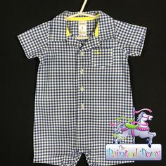 Checked boys size 6 months romper, N W T, $8.99