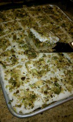 Kanafi with ashta and pistachio