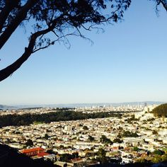 "Discovered by Shelby Finch, ""Nestled atop a neighborhood, this small but sweet park is a gem on a clear day! Worth the small hike up for nearly 360 views of SF and the Pacific Ocean. October is a great time to go as this area is mostly covered with fog all year long except for their Indian summer. (Sept-oct.)"" at Grand View Park, San Francisco, California"