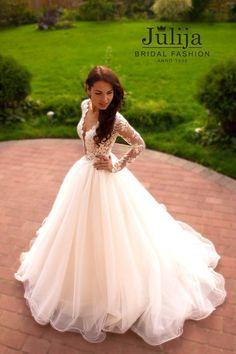 Exclusive luxury wedding dress 2016.Lace princess by JulijaWedding #vestidodenovia | # trajesdenovio | vestidos de novia para gorditas | vestidos de novia cortos http://amzn.to/29aGZWo