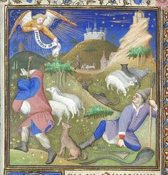 BL Yates Thompson 46 Annunciation to the Shepherds