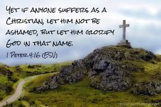 Verse of the Day: Suffer as a Christian - 1 Peter 4:16