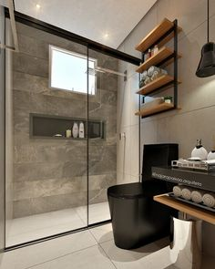 Modern Bathroom Design For Small Bathroom Modern Bathroom Design For Small Bathroom. When you are about to build a house, the first thing you need to think Bathroom Interior Design, Black Toilet, Trendy Bathroom, Bathroom Makeover, Home Decor, Bathroom Renovations, Amazing Bathrooms, Bathroom Design Small, Bathroom Decor