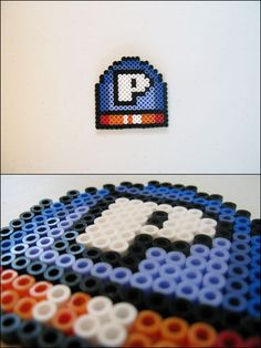 Super Mario World - P Switch - bead sprite magnet