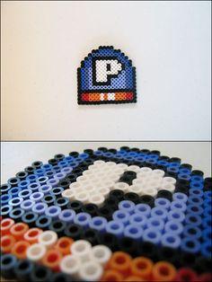 Super Mario World - P Switch - bead sprite magnet