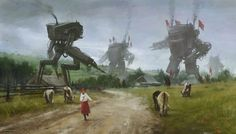 JAKUB ROZALSKI — 'uninvited guests' new painting from 1920+ series,...