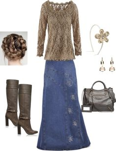 """""""Holiday Wishes"""" by sunnygirl74 on Polyvore. Love it!! instead of faded spots on the skirt, It would be adorable with lace patches."""