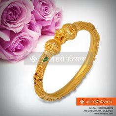 Beautifully crafted gold kada ...