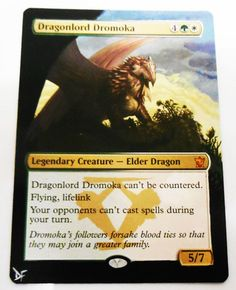 MTG Altered Painted Dragonlord Dromoka Dragons of Tarkir #WizardsoftheCoast
