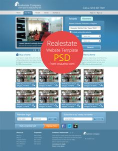 Real Estate #Website #Template, #Free, #Layout, #PSD, #RealEstate, #Resource, #Web #Design
