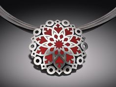 Cathedral Window Pendant   Janet Huddie from Crafthaus