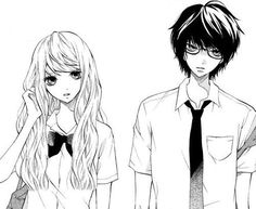 Discovered by Find images and videos about couple, anime and manga on We Heart It - the app to get lost in what you love. Manga Drawing, Manga Art, Anime Manga, Dark Drawings, Cute Drawings, Anime Nerd, Manga Couple, Cartoon Sketches, Manga Illustration