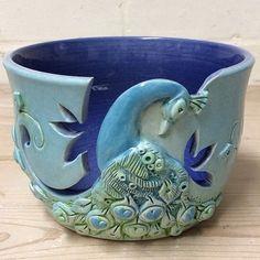 New Peacock yarn bowl glaze finished.