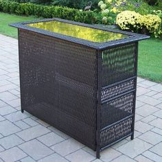 Oakland Living Elite All-Weather Wicker Bar Height Table by Oakland Living. $999.80. Smoked glass insert gives the table top a polished look. Outdoor bar with simple convenience and durable design. Hand-woven resin wicker over a light and rugged steel frame. Resin wicker is resistant to fading, rot and cracking. Frame is powder-coated to resist rust and corrosion. The Oakland Living Elite All-Weather Wicker Bar Height Table has everything an outdoor ...