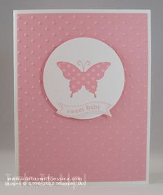 Negative-Space Punch Technique (Stampin' Up! Baby Card by Jessica Taylor)
