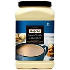 Daily Chef French Vanilla Cappuccino Beverage Mix lbs Servings Per MG of Caffeine Per Serving/li/ul Diet Drinks, Beverages, French Vanilla Cappuccino, Latte Machine, Cocoa Nibs, Instant Coffee, Coffee Creamer, Coffee Recipes, Coffee Drinks