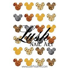 Animal Print Mickey Mouse Ears Disney Nail Art Water Transfer Decal