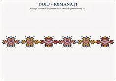 Semne Cusute: romanian traditional motifs - OLTENIA, Dolj-Romana... Beading Patterns, Knitting Patterns, Romanian Women, Popular Costumes, Folk Costume, Summer Kids, Cross Stitch Designs, Traditional Outfits, Pixel Art