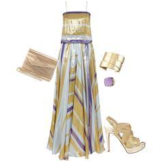 Lanvin Lurex gown, created by kalliopaki on Polyvore
