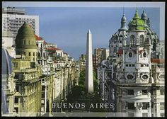 buenos aires argentina post cards | america argentina argentina buenos aires street view with obelisk ...