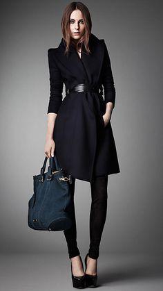 Manteau ceinturé à large revers | Burberry