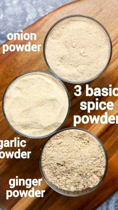 Ginger Powder Recipe, Onion Powder Recipe, Recipe Ginger, Recipe Spice, Jamun Recipe, Garlic Powder, Homemade Spices, Masala Recipe, Recipes